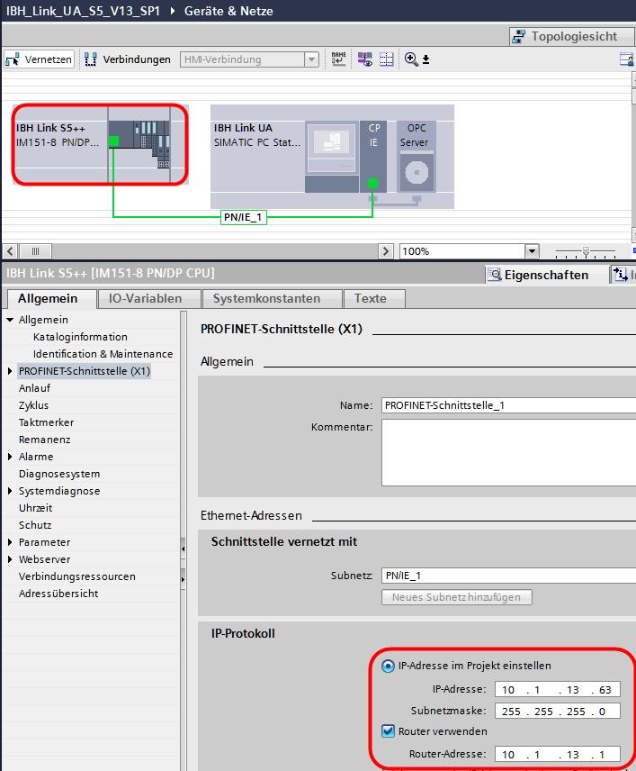 IBH OPC UA:Konfiguration mit dem TIA Portal – IBHsoftec Wiki