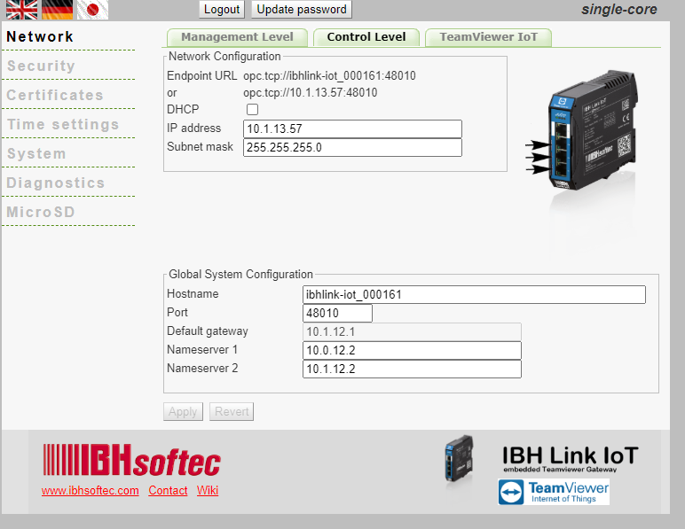 IBH Link IoT Controlt Level.png